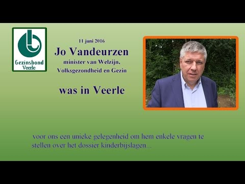 Minister Jo Vandeurzen was in Veerle.... de Gezinsbond-Veerle wachtte hem op...