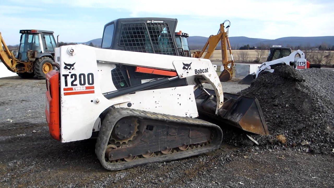 11912 Bobcat T200 Turbo Track Loader A C Cab Rubber Tracks