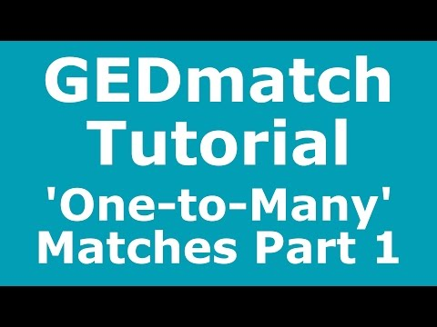 GEDmatch Tutorial: Basic Introduction to 'One-to-Many' Matches