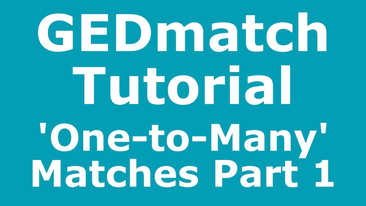 GEDmatch Tutorial: Basic Introduction to 'One-to-Many' Matches - Part 1
