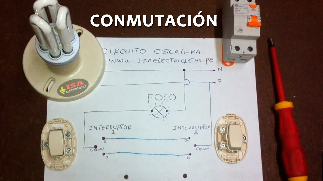Circuito Electrico Simple Dibujo : Circuito escalera conmutación simple mÉtodo de puentes youtube