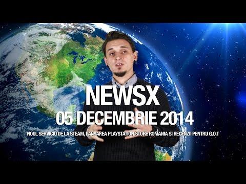 NewsX: Lansarea Playstation Store Romania si Valve Broadcasting