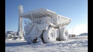 Start of huge diesel engines on big cold -40 🔥🌨️💨