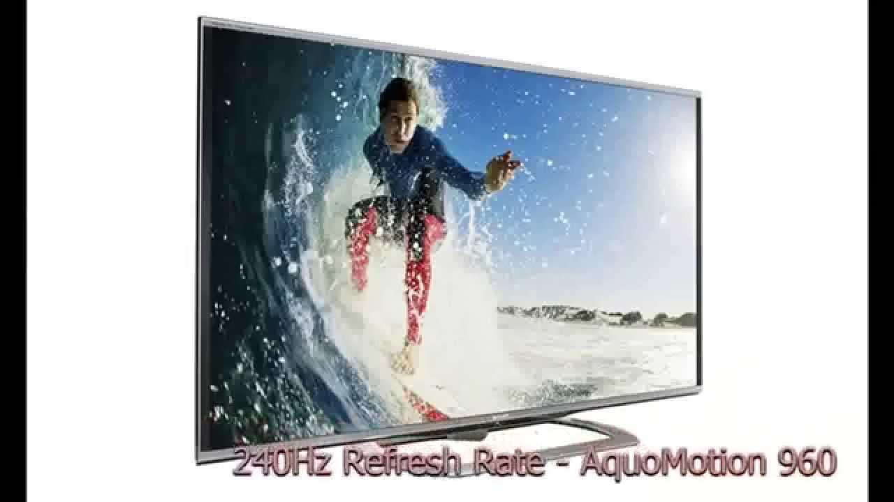 sharp 80 flat panel tv aquos quattron 3d. sharp le857 class aquos led 3d hdtv - enjoy powerful picture quattron color technology 80 flat panel tv 3d