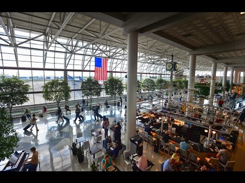 Explore massive CLT Charlotte NC American Airlines Hub Terminal