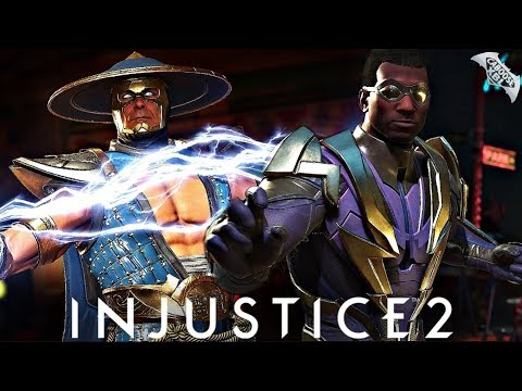 Injustice 2 Online - AWESOME RAIDEN AND BLACK LIGHTNING COMBOS!
