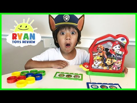 PAW PATROL TOY Bingo Game for Kids! Family Fun Activities Egg Surprise Toys