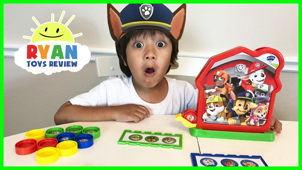 Paw Patrol Toy Bingo Game For Kids With Egg Surprise Toys