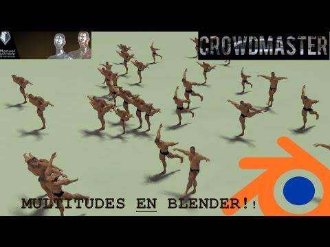 01. Crowd addon en Blender 2.78 y Character addon Generar Multitudes y Personajes!!
