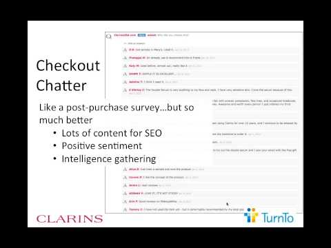 Social Commerce Webinar - Clarins Enhances Online Shopping Experience with Social Q&A