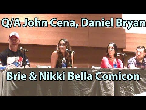 John Cena, Brie & Nikki Bella, and Daniel Bryan panel WWE #phxcc Phoenix Comicon. Fanfest