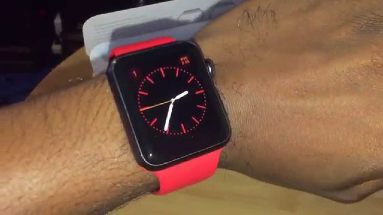 Unboxing Apple Watch Product Red Sport Band This Looks