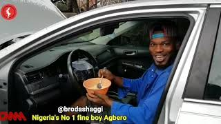 Brodashaggi drinking garri as break fast