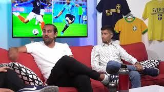 Fotbolls VM - Brasilien mot Belgien & Frankrike mot Uruguay med VM-Panelen