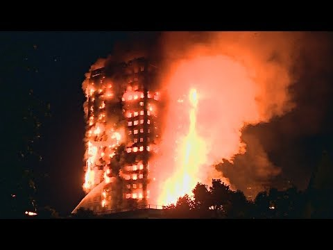 В Лондоне горит