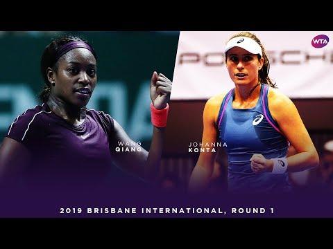 Sloane Stephens vs. Johanna Konta | 2019 Brisbane International First Round | WTA Highlights