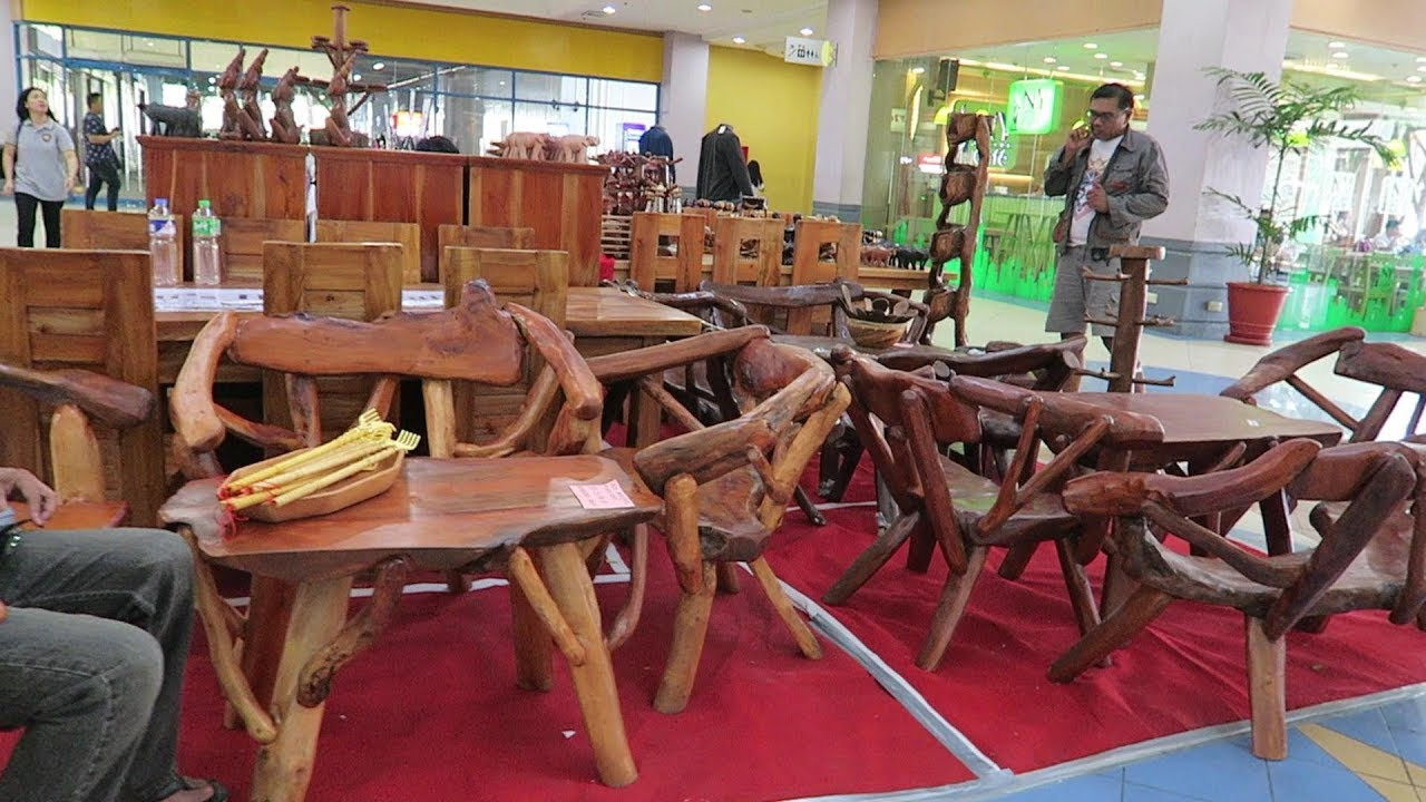 Beautiful handcrafted wood furniture 2018 angeles city philippines youtube Robinson s home furniture philippines