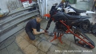 TTRactor 125 part 2 (гусеница для мотоцикла)