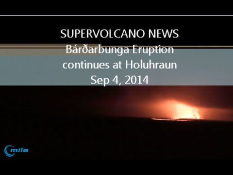SUPERVOLCANO NEWS | Bárðarbunga Eruption continues in Iceland / Rabaul's Tavurvur Cone \ Sep 4, 2014