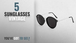 Top 10 Sunglasses Vintage [2018]: Royal Son UV Protected Round Sunglasses For Men and Women