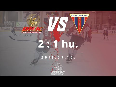 MOL5 Debreceni HK - Dunarea Galati 2:1 hu. (0:1, 1:0, 0:0, 1:0) 2016.09.10