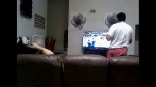 father and son reaction to clint dempsey goal against portugal usa world cup 2014