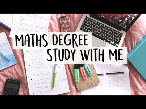 University Study with Me! A Day In The Life of a Maths Student