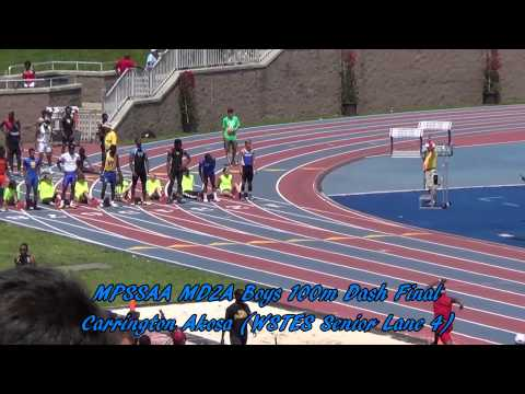 5/24/14 - Maryland 2A Outdoor State Championships -- Boys 100m