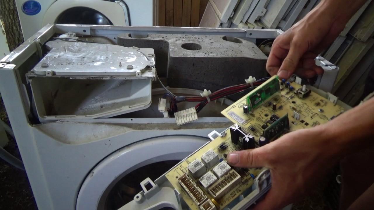Стиральная машина зависла на одной программе! Ремонт модуля!