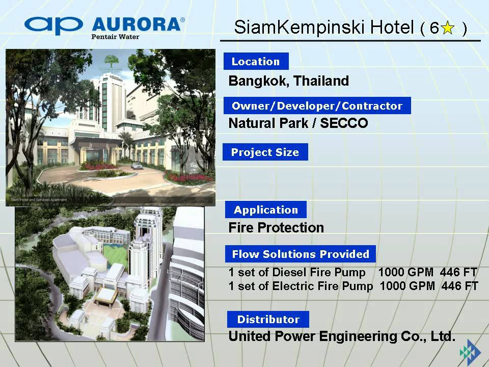 Aurora pump reference in Thailand by United Power Engineering Co , Ltd