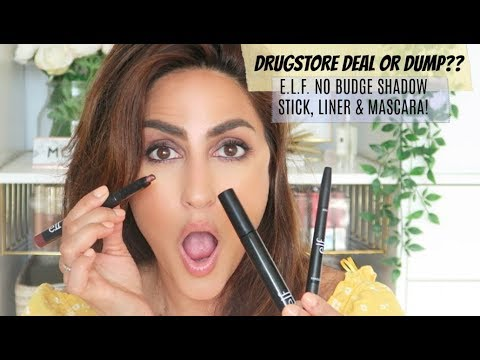 DRUGSTORE DEAL OR DUMP?? ELF NO BUDGE EYESHADOW STICK & MORE! thumbnail