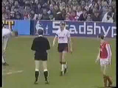 Stuart Pearce Yellow Card v Arsenal FA Cup QF '88