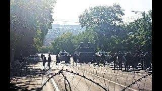Бронетехника на улицах Еревана