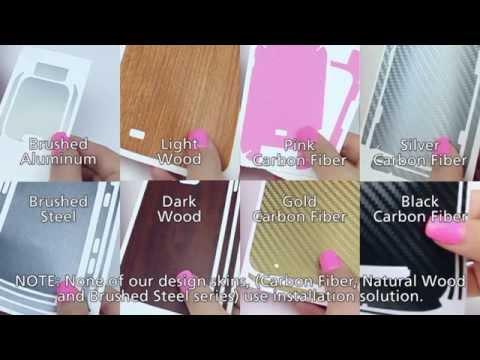 Skinomi Design Full Body Installation Video - Carbon, Metal and Wood Series