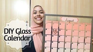 DIY Dry-Erase Glass Calendar- 2 minute tutorial!