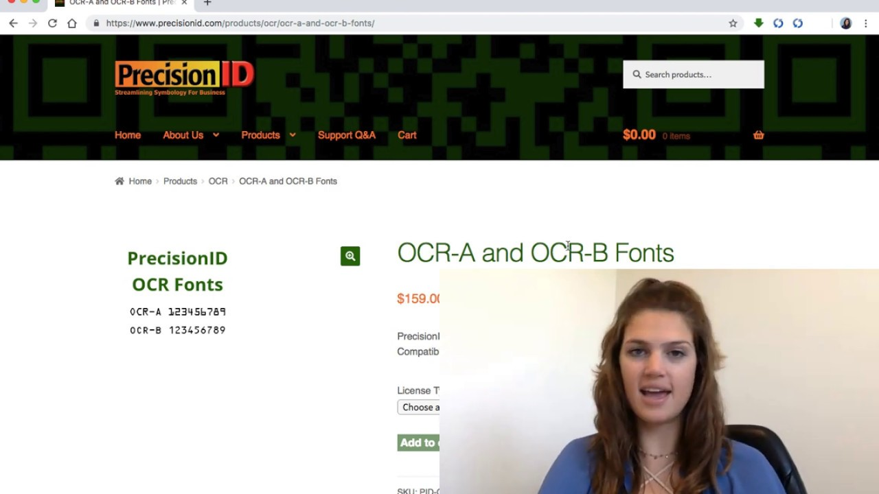 OCR-A and OCR-B Fonts