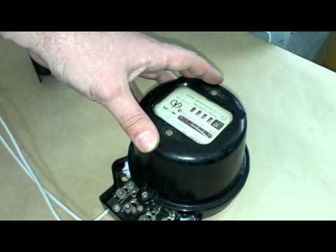 Подключение однофазного электросчётчика.