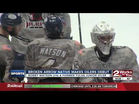 Broken Arrow native Bobby Watson scores goal in Tulsa Oilers' debut