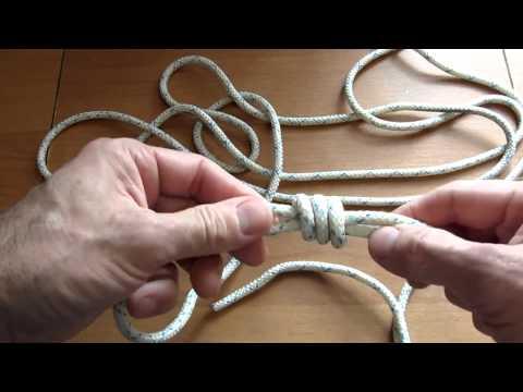 Семья Бровченко. Узлы для связывания веревок. Узел Грейпвайн (Двойной рыбацкий узел).