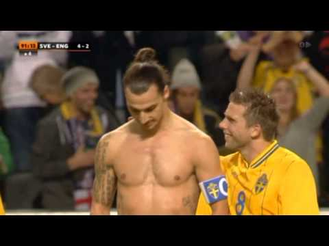 Friends Stadium Stockholm Zlatan Ibrahimovic Incredible Goal England vs Sweden 2012 11 14