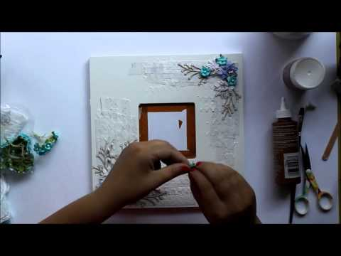 [6] Mixed Media project by Terhi Koskinen: Ikea mirror having a makeover.