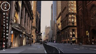 NYC in lockdown from the caronavirus epidemi, From YouTubeVideos
