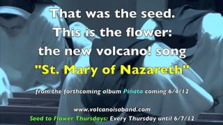 """St. Mary of Nazareth"" — Seed to Flower Thursdays with volcano!"