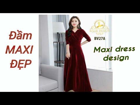 #022 – Hướng dẫn cắt đầm maxi |Le fashion | Dạy cắt may onlien miễn phí|Maxi dress design.