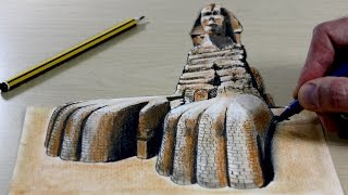 Trick Art on Paper, Painting 3D Sphinx