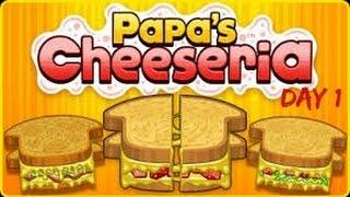 Papa's Cheeseria Part 1 (day 1)