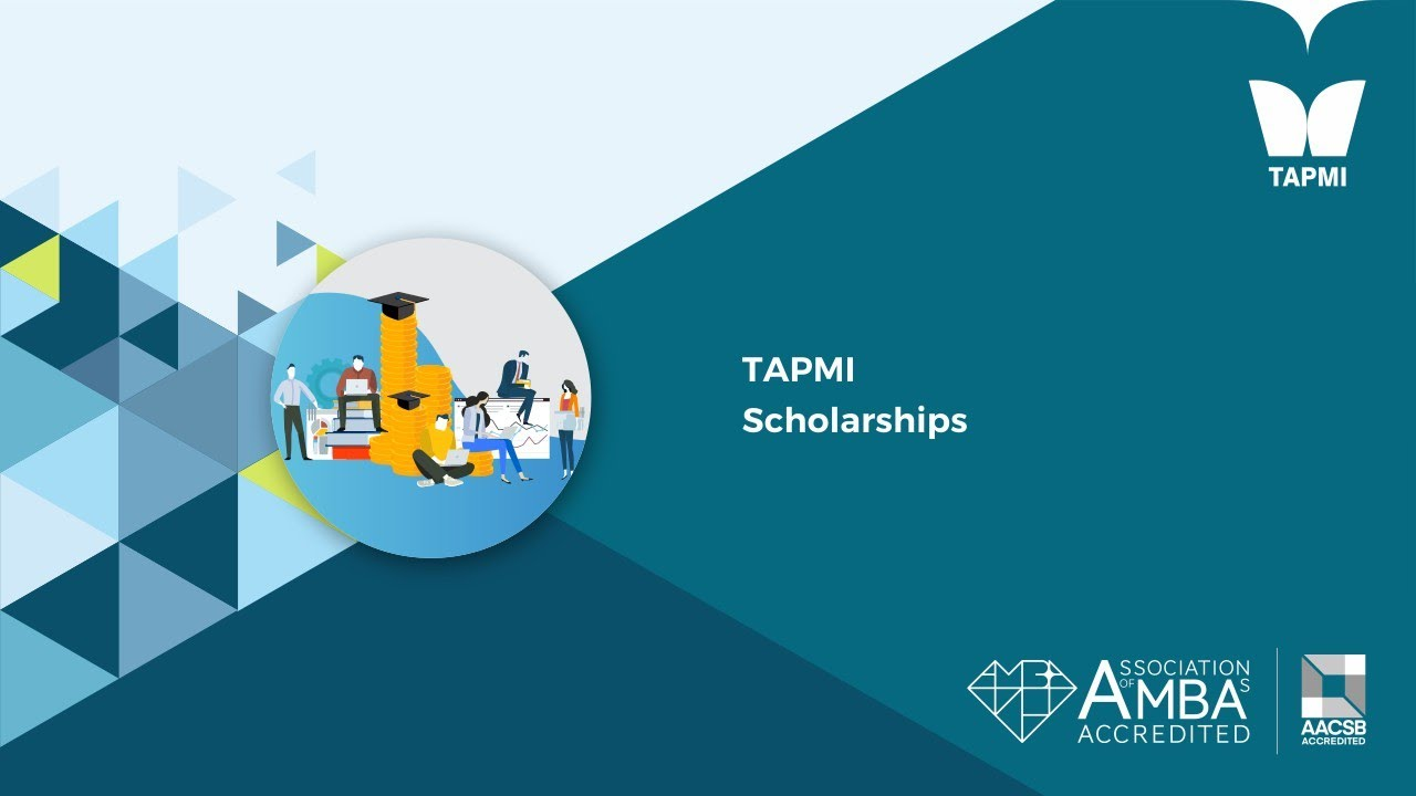 TAPMI Merit Scholarship for 50 students worth Rs. 2.5 crs