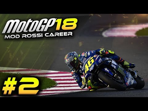 MotoGP 2018 Mod Rossi Career Mode Part 2 - Argentina 2018 | FROM THE BACK! (MotoGP Gameplay 2018)