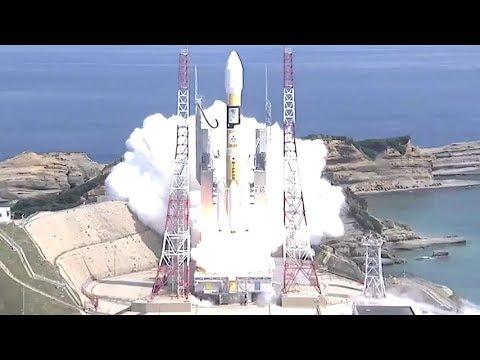 H-IIA F35 launches QZS-3 (Michibiki 3/みちびき3号機)