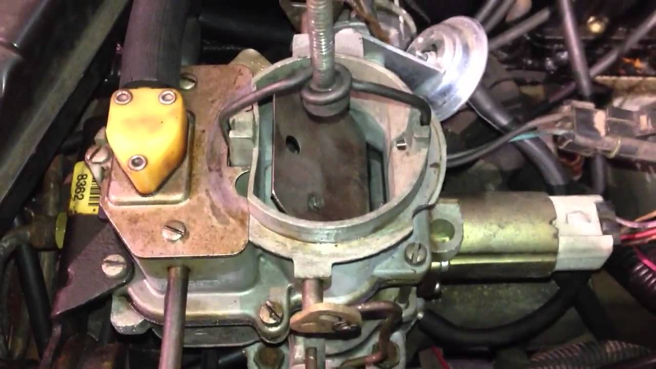 Holley Electric Choke Wiring Diagram 2006 Saturn Ion Engine Carter Bbd Operation - Youtube